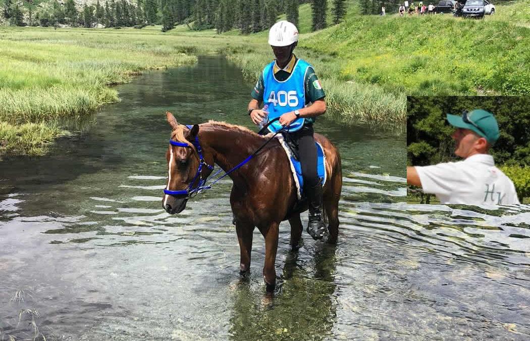 Il cavaliere Senese MONTOMOLI MASSIMILIANO alla CEI1* 84 KM 22° Trofeo Les Grandes Montagnes