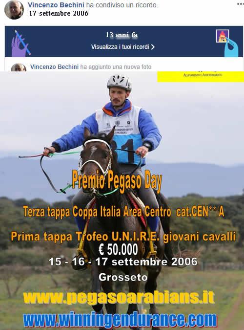 Anno 2006 – la prima tappa del Trofeo Unire giovani cavalli Grosseto