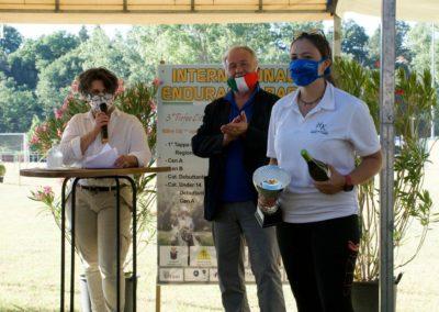 Premiazione Lucrezia Bellaccini  nella 122 km