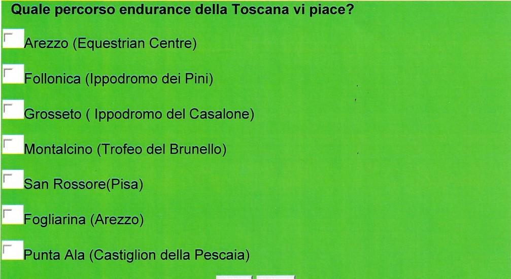 Quale percorso endurance della Toscana vi piace?
